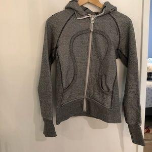 Striped scuba hoodie